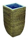 Designový květináč s úpletem z hyacintu, 60 cm